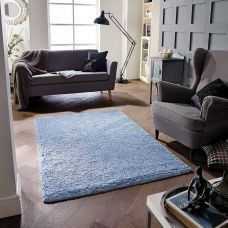 Super Soft Shaggy Rug - Blue