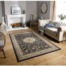 Tabriz Traditional Rug - 33B Black Beige