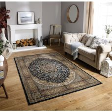 Tabriz Traditional Rug - 5990K Beige Black
