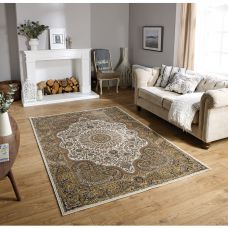 Tabriz Traditional Rug - 70W Brown Beige