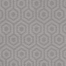 Camden Pattern Geo Saxony Carpet - Silver 94