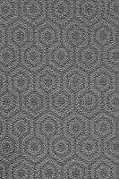 Camden Pattern Geo Saxony Carpet - Nickel 97
