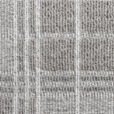 Dundee Tartan Loop Carpet - Silver