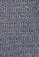 Camden Pattern Geo Saxony Carpet - Cobalt 78