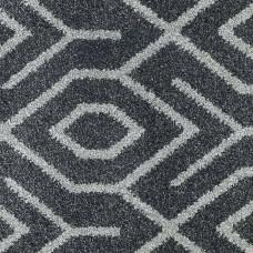 Moonlight Wilton Pattern Carpet - Dark Grey/Light Grey