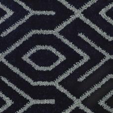 Moonlight Wilton Pattern Carpet - Navy/Grey 1832