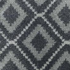 Moonlight Wilton Pattern Carpet - Dark Grey/Grey