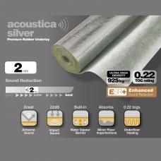 Silver Rubber 2mm High Density Laminate Underlay