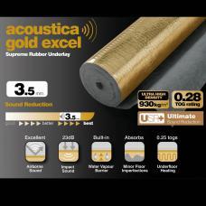 Gold Excel Rubber 3.5mm Ultra High Density Laminate Underlay