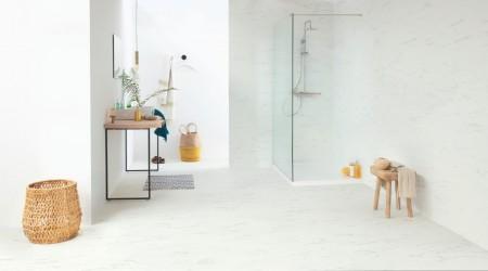 Ambient Click LVT - Marble Carrara White