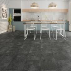 Natural 40 Tile LVT - Dallas Black Tile