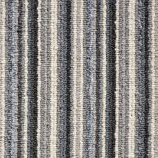 Oxford Stripe Loop Carpet - Blue Beige 9723