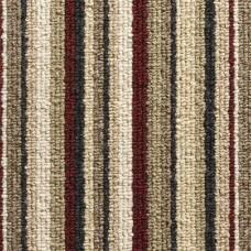 Oxford Stripe Loop Carpet - Red 9755