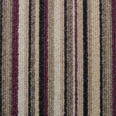 Oxford Stripe Carpet - Aubergine