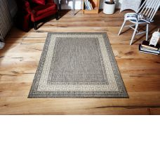 Greek Anti Slip Flatweave Rugs - Grey Rug