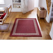 Greek Anti Slip Flatweave Rugs - Red Rug