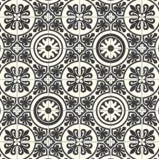 Retro Lisbon Black & White Tile