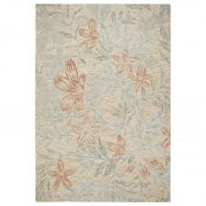 Gardenia Wool Floral Rug - Leaf