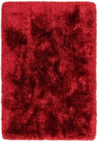 Plush Ultimate Shaggy Silk Rug - Red