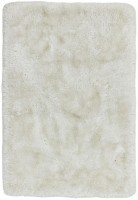 Plush Ultimate Shaggy Silk Rug - White