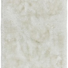Plush Ultimate Shaggy Silk Rug - White
