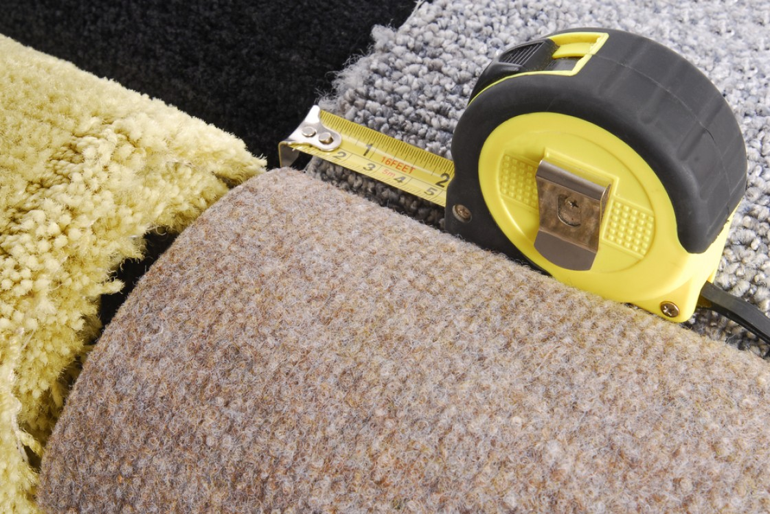 Measuring guide for carpet and floorcoverings