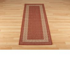 Greek Anti Slip Flatweave Rugs - Red Runners