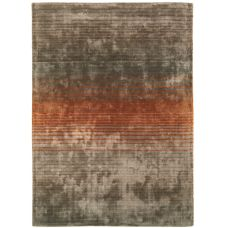Holborn - Contemporary Striped Rugs - Orange