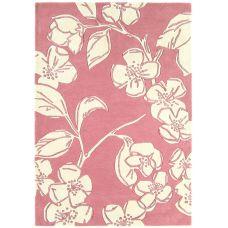 Matrix Devore Pink Floral Rug - Max13