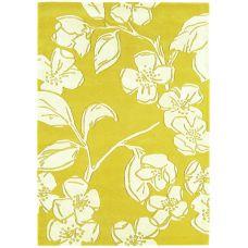 Matrix Devore Yellow Floral Rug - Max15