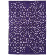 Matrix - Crochet Purple Wool Rug - Max20
