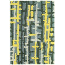 Matrix Ripley Yellow Thick Wool Rug - Max38