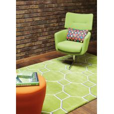 Matrix - Cassin Green Wool Rug - Max10