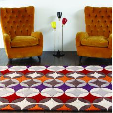 Galaxy Stars Rugs - Red / Orange / Purple Multi Rug