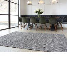 Sloan Flatweave Rug - Black & White