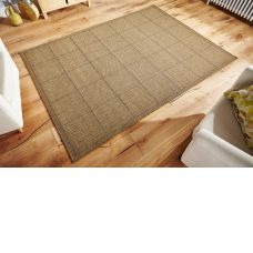 Anti Slip Checked Flatweave Natural Rug