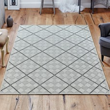 Malmo 622w Cream / Black Rug