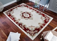 Royal Traditional Rug - Cream Red