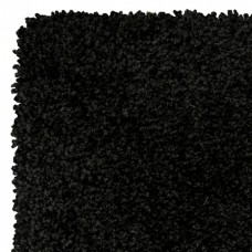Machine Washable Shaggy Rugs - Elegant Black