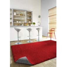 Machine Washable Shaggy Rugs - Elegant Red