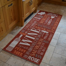 Modern Kitchen Rugs - Dark Red Wine Mat