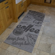 Modern Kitchen Rugs - Grey Coffee Mat