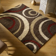 Aura Brown / Red / Cream Rug 3922D