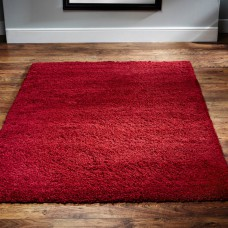 Harmony Shaggy Red Rugs