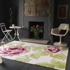 Galaxy Rose Pink / Cream Modern Rugs