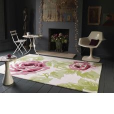 Galaxy Rose Pink / Cream Modern Rugs