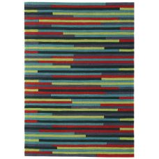 Galaxy Stripe Rugs- Green / Blue / Purple Multi Rug