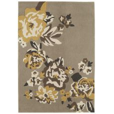 Galaxy Floral Rugs - Gold / Beige Rug