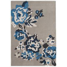 Galaxy Floral Rugs - Blue / Beige Rug