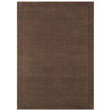 Venice Soft Plain Wool Rugs - Chocolate